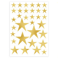 removable wall stickers gold star stickers