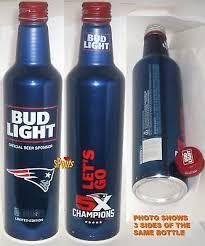 bud light aluminum bottles nfl new england patriots 2017 bud light nfl aluminum bottle beer can