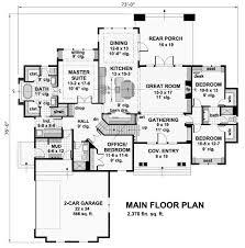 craftsman style house plan 4 beds 3 00 baths 2370 sq ft plan 51 570