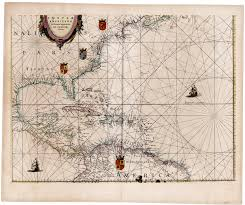 South And Central America Map by Blaeu U0027s 1634 Map Of North America Central America The Northern