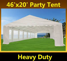Carport Canopy Heavy Duty 46 X 20 Heavy Duty White Party Tent Gazebo Canopy