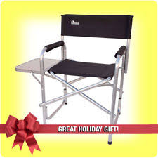 Folding Directors Chair With Side Table Heavy Duty Camping Chair Ebay