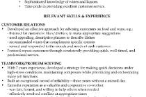 Sample Resume Waiter by Functional Resume Sample Waiter Relevant Skills U0026 Experience