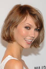 short thick hairstyles bangs double chin short hair round face