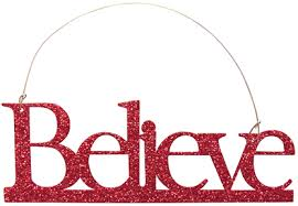 glittered believe ornament gp10541 2 99 country home