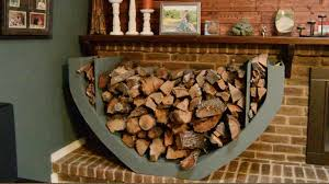 diy firewood holder youtube