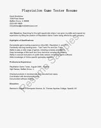 Sample Software Tester Resume by Playstation Game Tester Cover Letter Sales Representative Resume