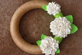 how to make felt flowers and a wreath idea one lovely