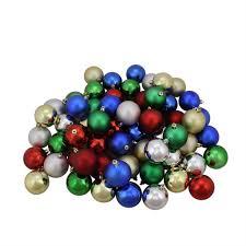 60ct multicolor shiny matte shatterproof ornaments
