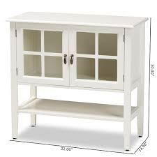 horizontal kitchen storage cabinets baxton studio chauncey classic and traditional white finished wood and glass 2 door kitchen storage cabinet