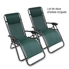 chaises longues de jardin chaise longue de jardin inclinable en textil ne 165x112x65cm vert en