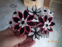 kanzashi hair ornaments half finished hana kanzashi hair ornament by pbarron on deviantart