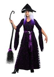 Ladies Skeleton Halloween Costume by Purple Moon Witch Costume For Women