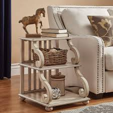 Antique Accent Table Cottage Accent Tables Living Room Furniture The Home Depot