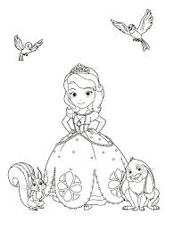 sofia the first coloring pages sofia and clover coloring page free