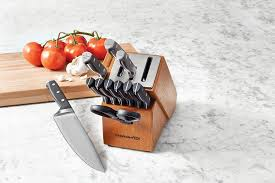 calphalon classic self sharpening cutlery knife block set with