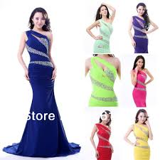 new year party dresses one shoulder mermaid trumpetprom gowns