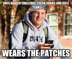 Color Guard Memes - does ranger challenge color guard and rifle team wears the
