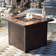 amazon gas fire pit table amazon com red ember desert sand 32 in square propane fire pit