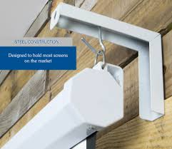 Install Heavy Duty Shelf Brackets In Concrete The Homy Design - mount ps01 vivo universal projector wall mount hanging 6