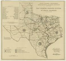 Old Mexico Map by Map Showing Proposed System Of State Highways 1917 Texas Texas