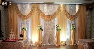2017 wedding backdrops for wedding decoration twinkle stage drape