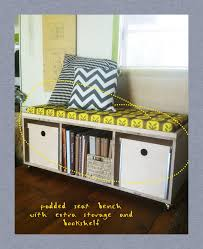 interior diy padded seat benchstoragegive away diy storage bench