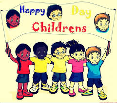 children celebrating happy children s day with poster