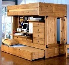 Loft Bed With Desk And Trundle Foter - Wood bunk beds with desk and dresser