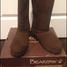 womens paw boots size 11 paw size 7 brown bearpaw boots box included from bubbles
