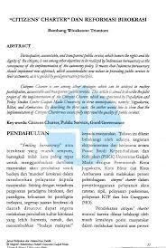 cara membuat imb semarang citizens charter dan reformasi birokrasi pdf download available
