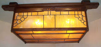 Arts And Crafts Ceiling Lights by Arts U0026 Crafts Greene And Greene Style Flush Mount Lighting