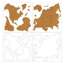 World Map Pinboard by World Map Cork Board Collage Art Pinboard Display Wall College