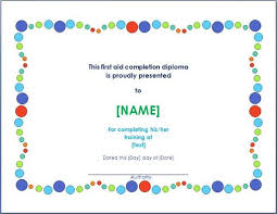 certificate of completion free template word the award certificate should is designed for the