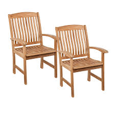 Teak Patio Furniture by Shop Boston Loft Furnishings Cassidy 2 Count Unstained Teak Patio