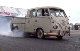 volkswagen van volkswagen bus with 560 hp subaru engine is a weird pickup truck