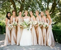 bridesmaids wedding dresses weddings catherine payton chagne gold bridesmaids