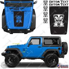 jeep matte maroon hood blackout tiki custom vinyl decals stickers kit fits jeep