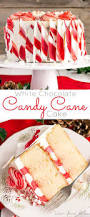 this white chocolate candy cane cake is the perfect addition to