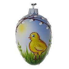 glass easter egg ornaments blown glass easter egg ornament