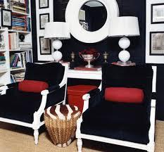 Regency Office Furniture by Mary Macdonald Navy Blue U0026 Red Hollywood Regency Office Library