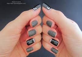 simple rhinestones nail art u2013 nails at home