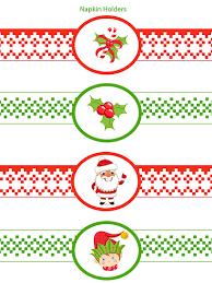 printable napkin rings free christmas napkin rings printable