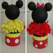 mickey and minnie inspired centerpieces by creativehandsbyali