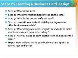 What Information Do You Put On A Business Card Logo The Steps To Creating A Business Card California State