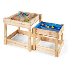 sand and water table with lid sandy bay wooden sand water tables plum play