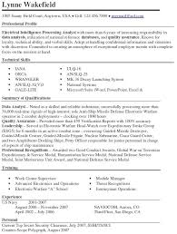 Gis Resume Sample by Electrical Intelligence Processing Analyst Resume Example