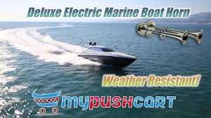 deluxe electric marine boat horn stainless steel weather