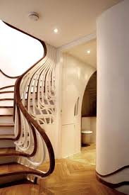 Solid Banister Stair Top Notch Spiral Staircase Design Ideas With Brown Solid