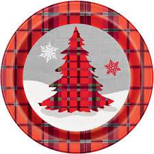 plaid christmas rustic plaid christmas paper plates christmas party supplies